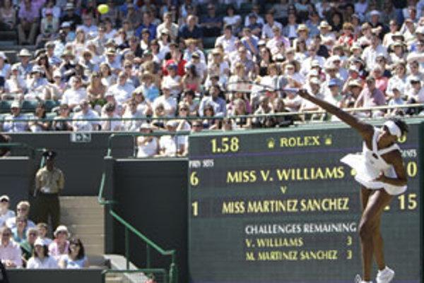 Venus Williamsová pokorila svoj vlastný rekord.