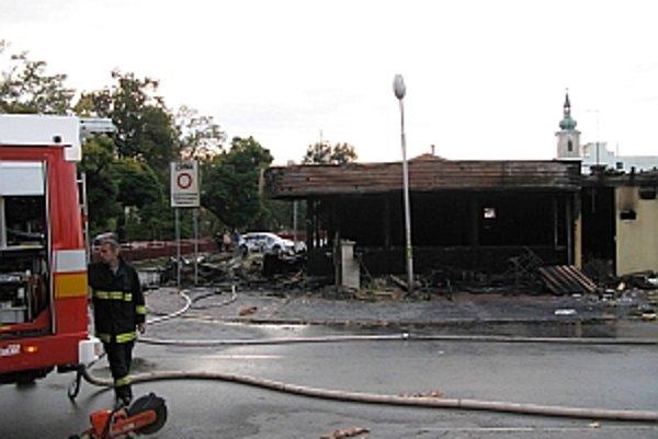Bar bol našťastie v čase požiaru prázdny.