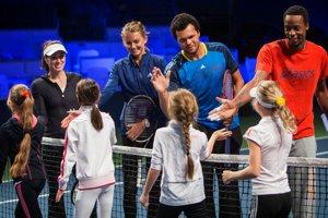 V exhibícii Tennis Classic sa predviedli kamarátske dvojice Monfils, Tsonga aj Hingisová s Hantuchovou.