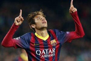 Neymar v zápase Barcelony s Celticom.