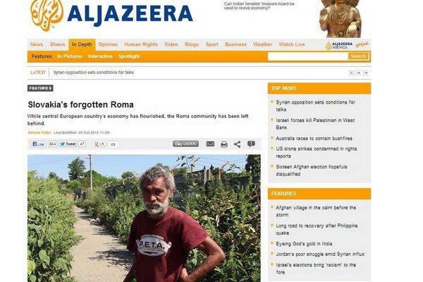 O slovenských Rómoch informuje aj arabská televízia.