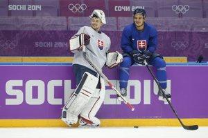 Na tréningu slovenských hokejistov.