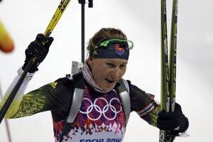 Anastasia Kuzminová po skvelých pretekov na 7,5 kilometra.