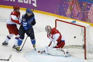 Fínsko po polovici zápasu viedlo s Ruskom 3:1.