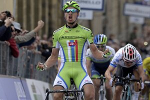 Peter Sagan vyhral etapu pretekov Tirreno-Adriatico z Casciny do Arezza.