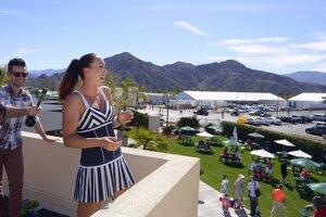 Jelena Jovanovičová v Indian Wells.