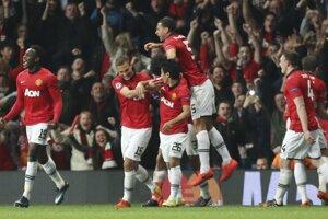 Z prvého gólu v zápase s Bayernom sa tešili hráči Manchesteru United.
