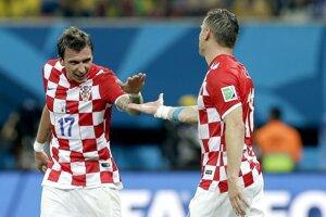 Mario Mandžukič sa teší z gólu.