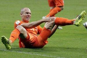Arjen Robben počas zápasu s Kostarikou.