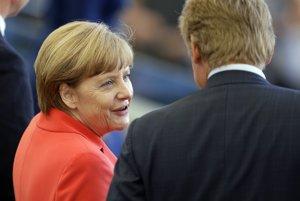 Angela Merkelová nezvykne chýbať na takýchto zápasoch.