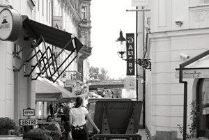 Bratislavské Staré mesto v horúcom letePanská ulica