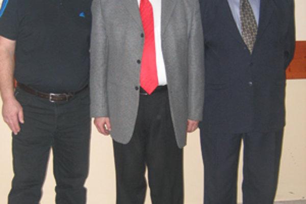 Zľava: Jozef Čuboň, Ján Fašung a Jozef Jurišta.
