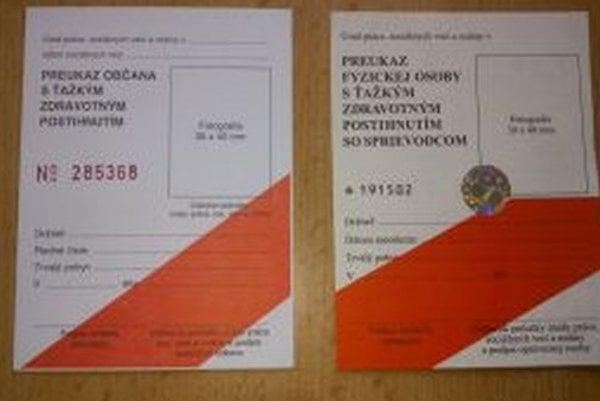 Preukaz občana s ťažkým zdravotným postihnutím a preukaz občana s ťažkým zdravotným postihnutím s potrebou sprievodcu, ktoré boli vydané do 31.12.2008, platia iba do  31.12.2013.