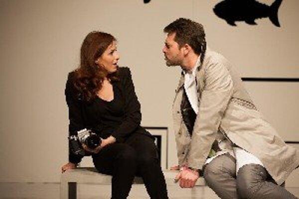 Marek Majeský so Soňou Norisovou v inscenácii Closer.