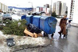V týchto dňoch sa vianočné stromčeky stávajú odpadom.