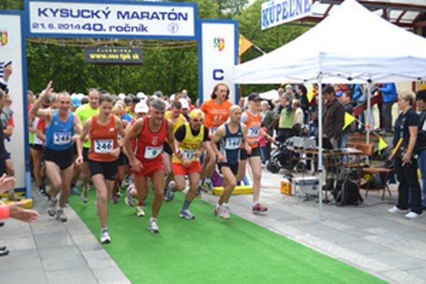 Štart 40. ročníka Kysuckého maratónu.