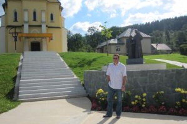 Vladimír Gajdošík hovorí, že park si Staškovania stavajú svojpomcne. Bez nároku na odmenu.