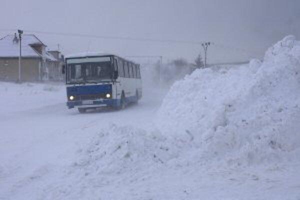Žilinská SAD zaznamenala menšie problémy dnes ráno len v oblasti horných Kysúc.