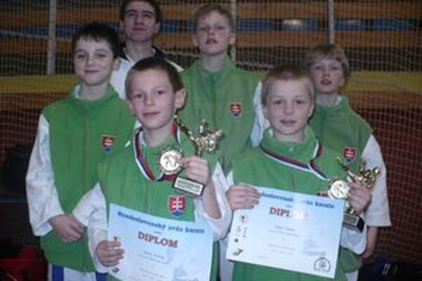 Mladí zápasníci podali dobré výkony.