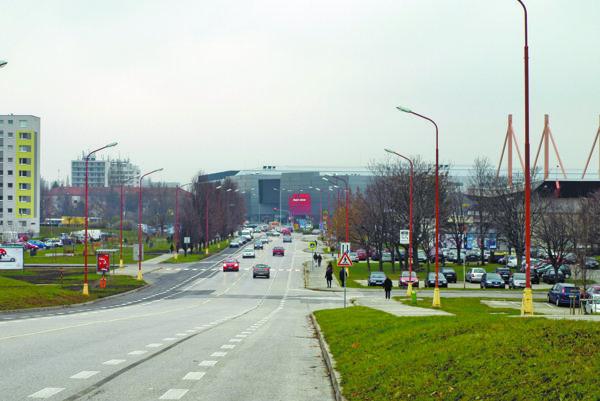 Spartakovská ulica v Trnave.