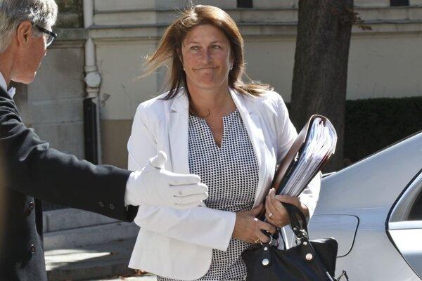 Belgická ministerka dopravy Jacqueline Galantová.