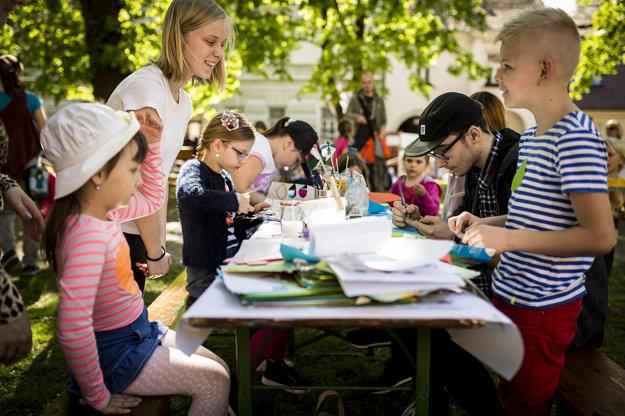 Deti mohli stráviť čas v tvorivých dielňach.