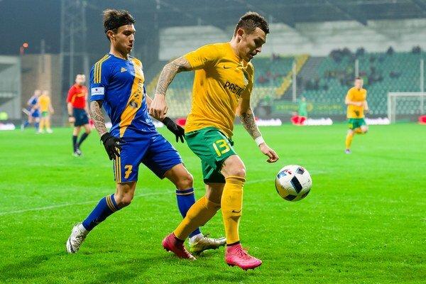 Ani Filip Hlohovský (v žltom) prehru MŠK neodvrátil.