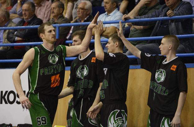 Hráči BC Prievidza.