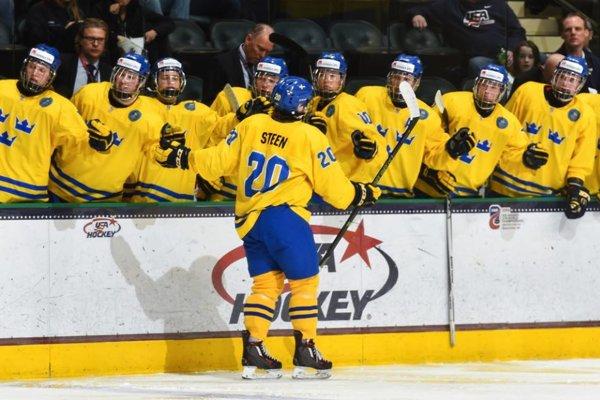 Hokejisti Švédska - ilustračná fotografia.