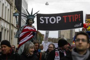 Proti dohode o voľnom obchode medzi USA a krajinami Únie sa konalo už viacero protestov.