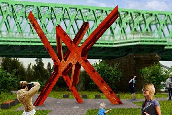 Nákres budúceho mosta a Červeného Trpaslíka. Prispieť môžete na cervenytrpaslik.sk