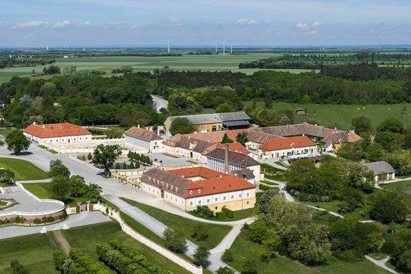 Zámok Schloss Hoff. Luft bildprofis