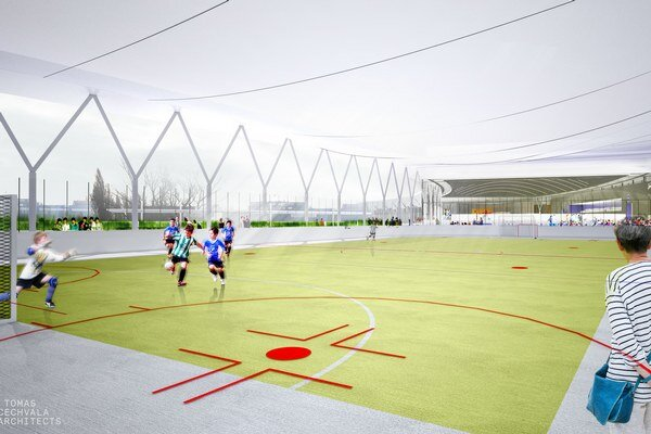 Súčasťou areálu má byť klzisko, plaváreň, multifunkčné športovisko, tenisové kurty a fitness centrum.