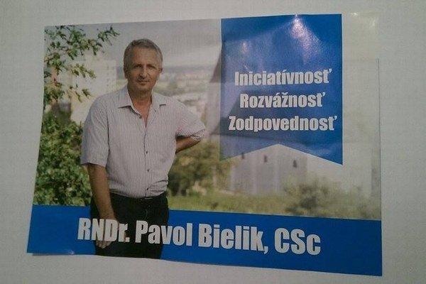 Aktuálny leták Pavla Bielika.