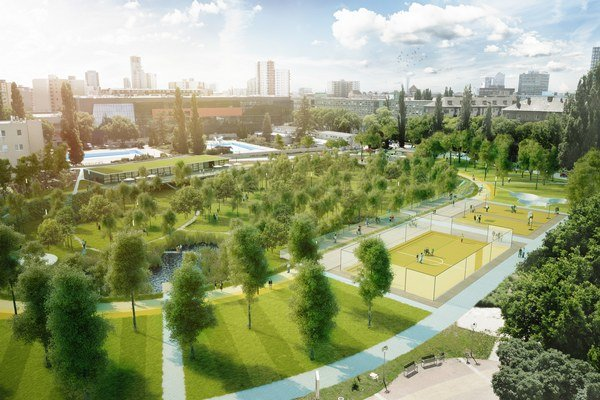 Vizualizácia nového športparku