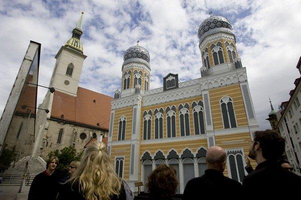 Model synagógy, ktorý na Rybnom námestí stál minulý rok.