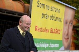 Nezávislý kandidát na post predsedu Bratislavského samosprávneho kraja Rastislav Blaško.