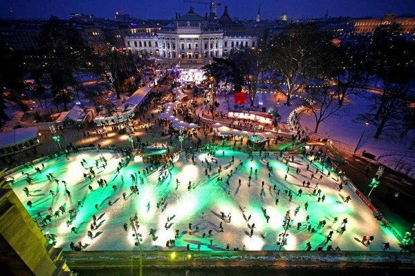 Klzisko vo Viedni zvané ľadový sen.