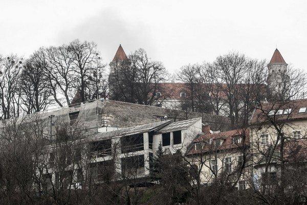 Rozostavaný dom na Beblavého ulici.