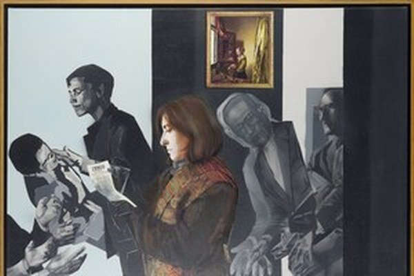 Zo zbierky GCM - Veronika Rónaiová, Doublespeak - Tesco Lady, 2010, olej na plátne.
