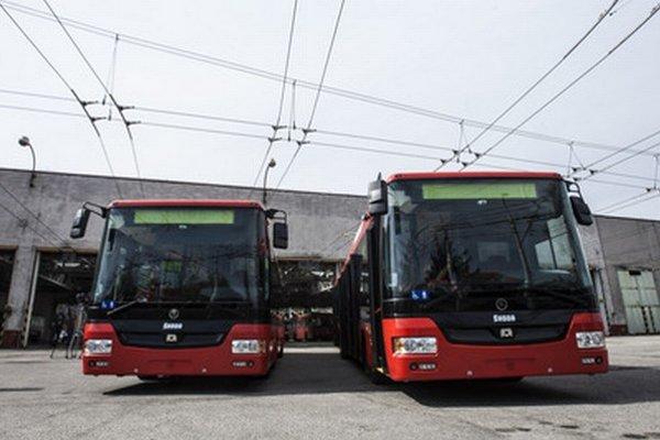 Nové trolejbusy v Bratislave.