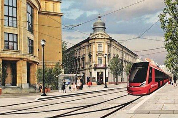 Nové zastávky električiek chce mesto posunúť zo stredu Štúrovej ulice pred Univerzitu Komenského.