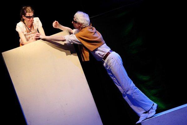 Divadlo Zrakáč tvorí skupina nevidiacich, slabozrakých a aj vidiacich hercov.