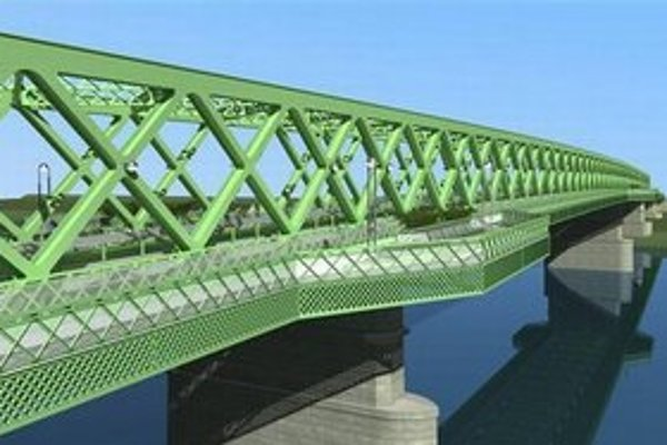 Vizualizácia novej konštrukcie Starého mosta z dielne Miroslava Maťaščíka.