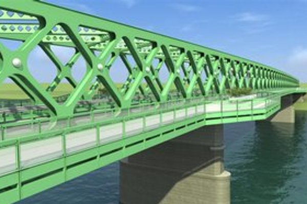 Takto by mal vyzerať Starý most s novou konštrukciou. Zelená farba je len návrh.