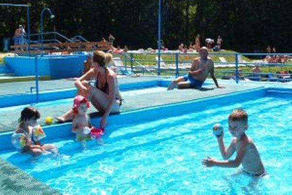 Detský bazén na kúpalisku v Kremnici.