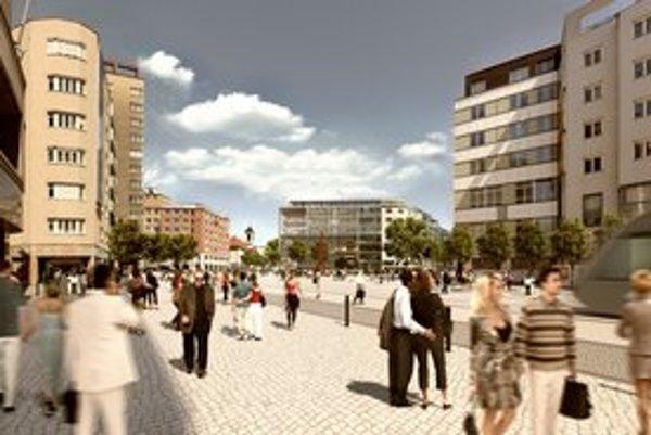 Návrhy urbanistickej štúdie.
