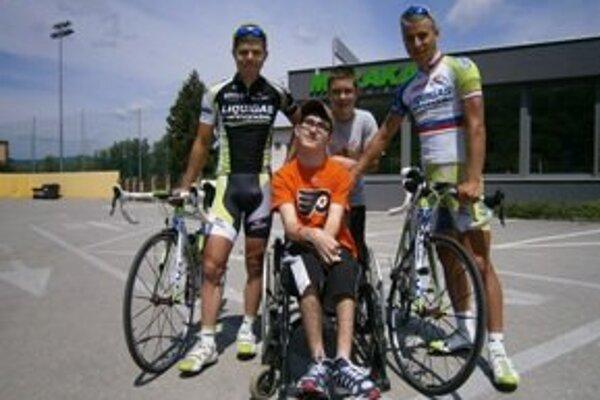 Stretnutie so Saganovcami. Zľava: Juraj Sagan, Danko Magdolen, Martin Magdolen a Peter Sagan.