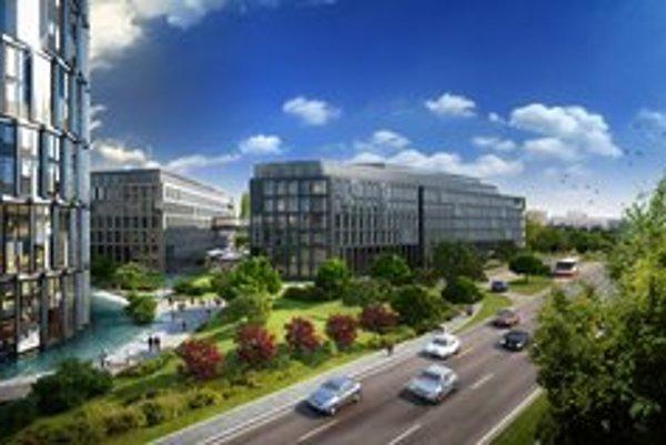 Nový návrh projektu Twin City, ktorý má vyrásť na Mlynských Nivách, je oproti prvým plánom spred roka 2010 konzervatívnejší.