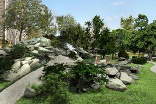Tatranský parčík má vzniknúť má pri River parku aj s modelom Studenovodského vodopádu a horskou chatou.